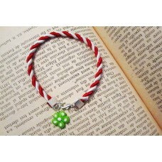 Martisor bratara floare verde deschis