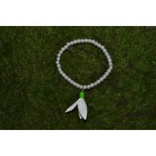 Bratara ghiocei perle albe