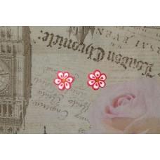 Cercei floricele roz