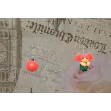 Cercei fetita cu mere