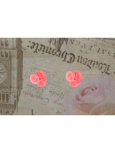 Cercei buchetel trandafiri roz