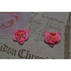 Cercei orhidee roz
