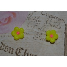 Cercei flori neon