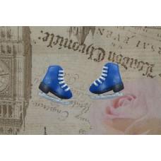 Cercei patine albastre