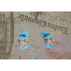 Cercei pitici bleu