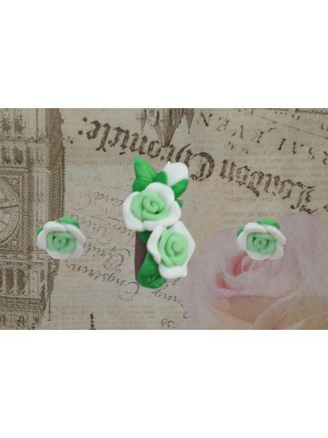 Set brosa - cercei trandafiri