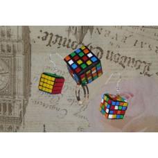 Set inel - cercei cub Rubik